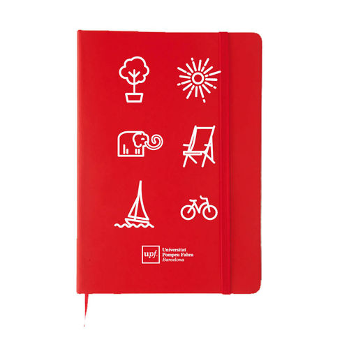 Din A5 red notebook
