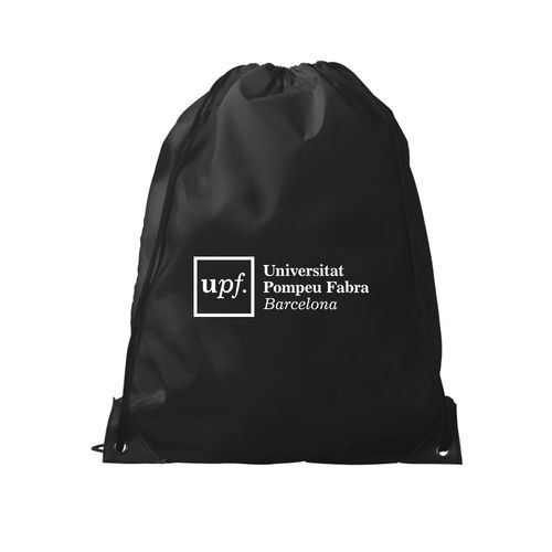 NYLON BLACK BACKPACK UPF