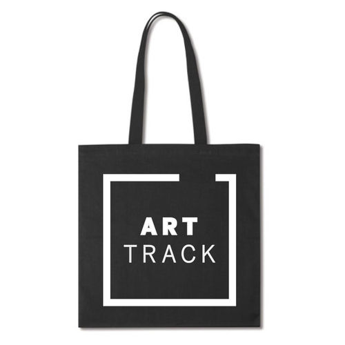 Art track Black Totebag